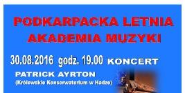"""NASZ PATRONAT: """"Podkarpacka Letnia Akademia Muzyki"""" w Olszanicy"""