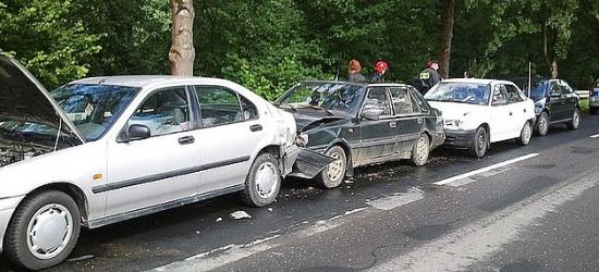 W Łączkach zderzyło się 5 samochodów