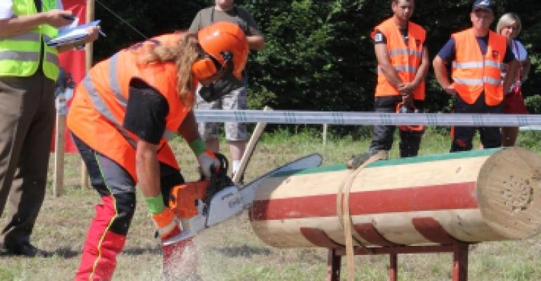 Rywalizacja drwali w Lesku. Wióry leciały (FILM, ZDJĘCIA)
