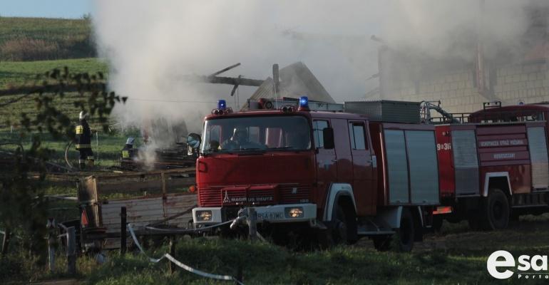 BIESZCZADY: Pożar domku letniskowego. Straty oszacowano na 3 tys. zł