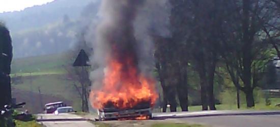Auto spłonęło na środku drogi (ZDJĘCIA)