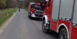 WYPADEK: Motocyklistę śmigłowcem przetransportowano do szpitala (ZDJĘCIA)