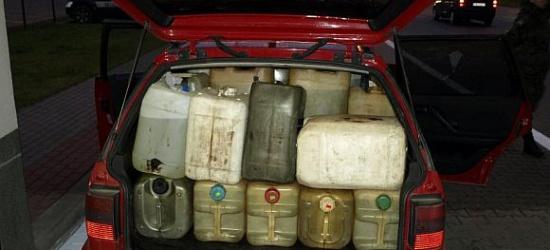 20-letnia kobieta przewoziła 730 litrów oleju napędowego i 70 litrów benzyny!