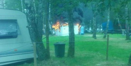 POLAŃCZYK: Pożar w jednym z ośrodków wypoczynkowych. Płomienie strawiły bar (ZDJĘCIA)