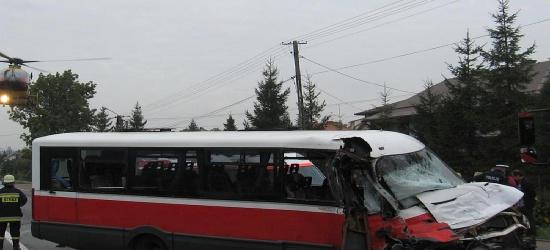 Wypadek sanockiego busa. Zmarł 10-letni chłopiec