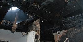 Pożar domu w Baligrodzie. Mieszkańcy chcieli ogrzać się przy kominku