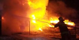 Pogranicznicy po służbie ratowali dobytek z płonącego budynku (FILM, ZDJĘCIE)