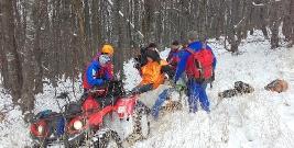 Międzynarodowa akcja ratownicza w Bieszczadach (ZDJĘCIA)
