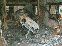 Wybuch paliwa w garażu. 30-latek ciężko ranny