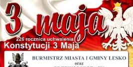 LESKO: 226 rocznica uchwalenia Konstytucji 3 Maja. Zobacz program obchodów
