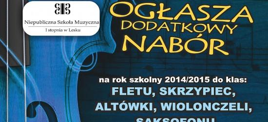 Dodatkowy nabór do Szkoły Muzycznej w Lesku. Zobacz szczegóły