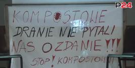 """GMINA ZAGÓRZ: """"Kompostowe dranie nie pytali nas o zdanie! Stop kompostowni""""! (FILM)"""